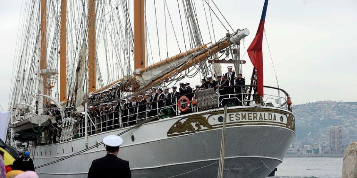 Repatrian a cuatro marinos desde Nueva Zelanda tras ser sorprendidos fumando marihuana en la Esmeralda