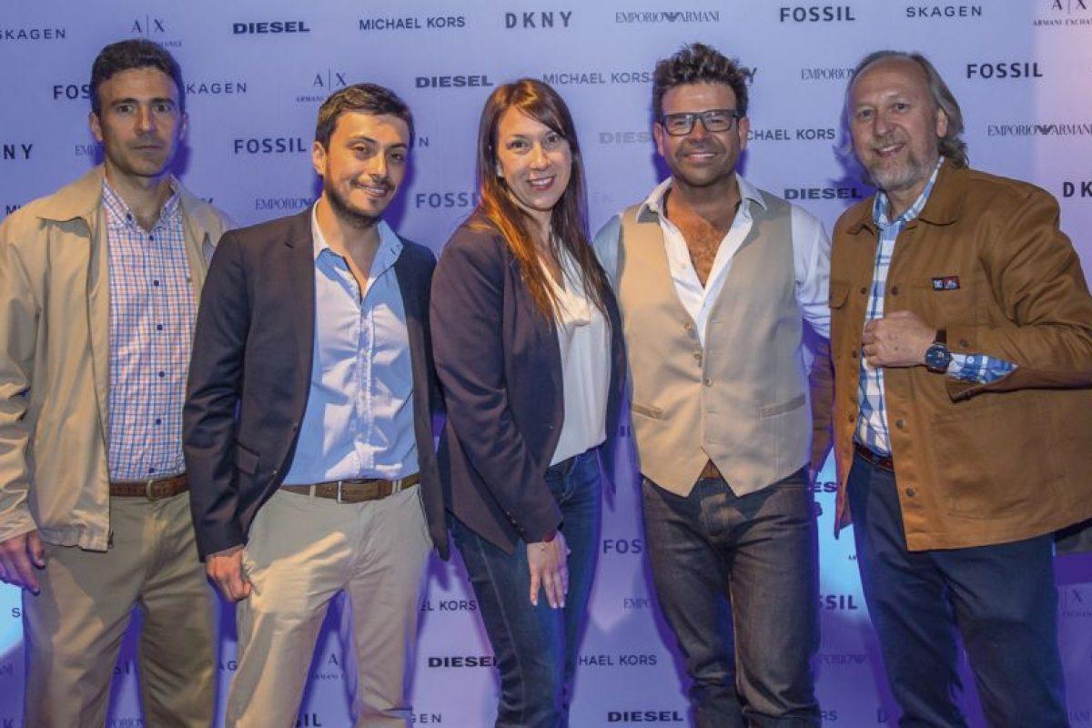 René Larraín, Miguel Reyes, Isabel Torres, Ignacio Gutiérrez y Fernando Fuenzalida. Imagen Por: