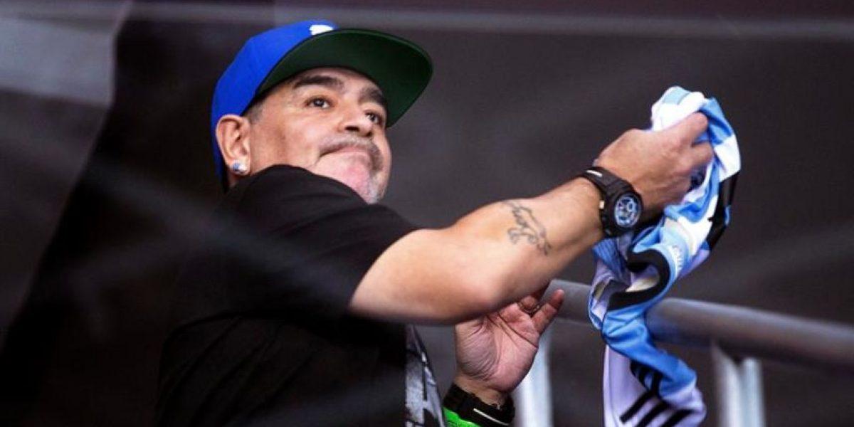 Maradona llora la muerte de Fidel, su