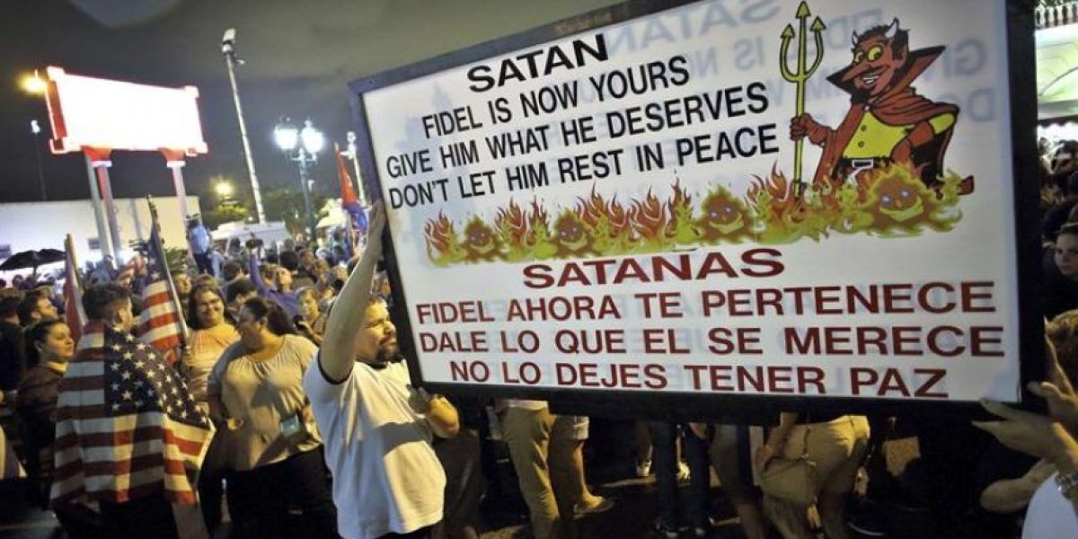 Anticastristas celebraron de madrugada en Miami la muerte de Fidel