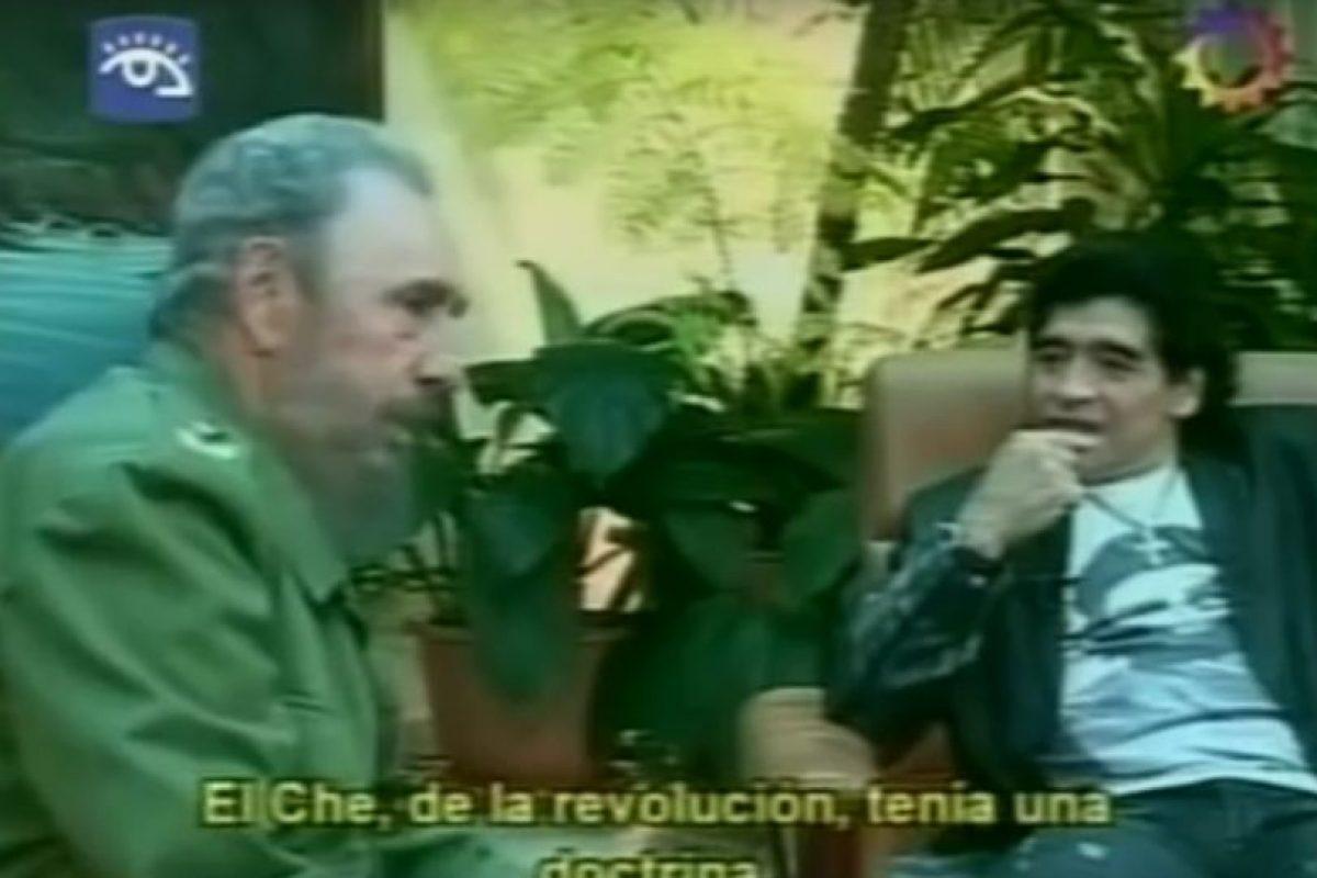 Maradona entrevistó a Fidel para la televisión venezolana. Foto:REPRODUCCIÓN. Imagen Por: