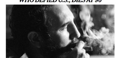 La prensa de EEUU se despide de un viejo adversario, Fidel Castro