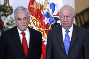 """El ex Presidente Piñera planteó que hay bandas de delincuentes que vienen desde el extranjero, mientras que Lagos pidió no """"demonizar el tema"""" Foto:Agencia UNO. Imagen Por:"""