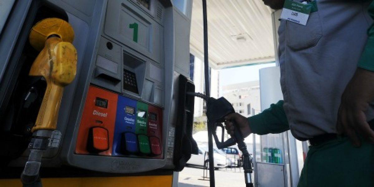 Sólo el precio de las gasolinas baja este jueves