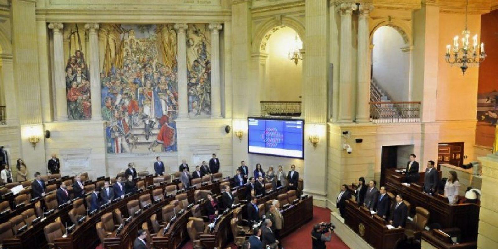 """""""Se aprueba la proposición de refrendación del acuerdo de paz"""", anunció la Cámara de Representantes, donde se registró una votación de 130 congresistas a favor y 0 en contra, de un total de 166 representantes. Foto:Afp. Imagen Por:"""