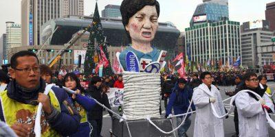 Las protestas masivas que exigen la dimisión de Park se han repetido en Seúl y otras ciudades de Corea del Sur. Foto:AFP. Imagen Por: