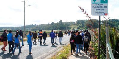 Ocho mil personas participaron de simulacro de sismo y tsunami en La Araucanía