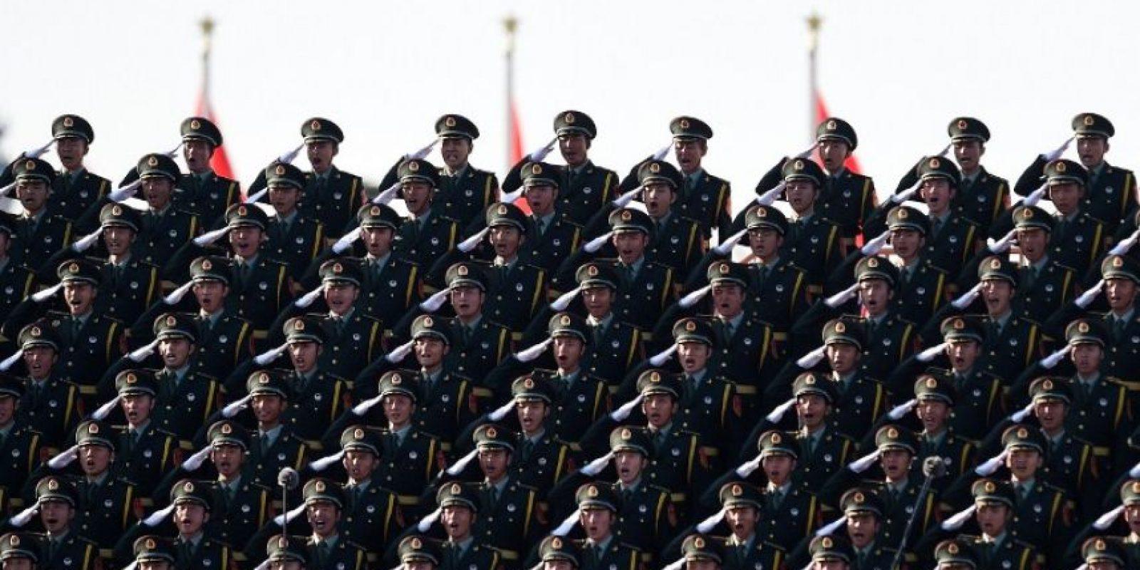 El ejército de Corea de Norte realiza el saludo militar más conocido. Foto:AFP. Imagen Por: