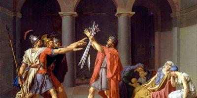 El saludo romano: brazo derecho entendido en forma recta. Foto:Internet. Imagen Por: