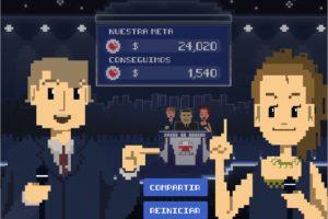 """El juego """"El Gran Computo de Teletón"""" desarrollado Lunatic Motion , consiste en que durante 30 segundos puedas hacer clicks rápidamente en la pantalla de tu smartphone. Foto:Gentileza Lunatic Motion. Imagen Por:"""