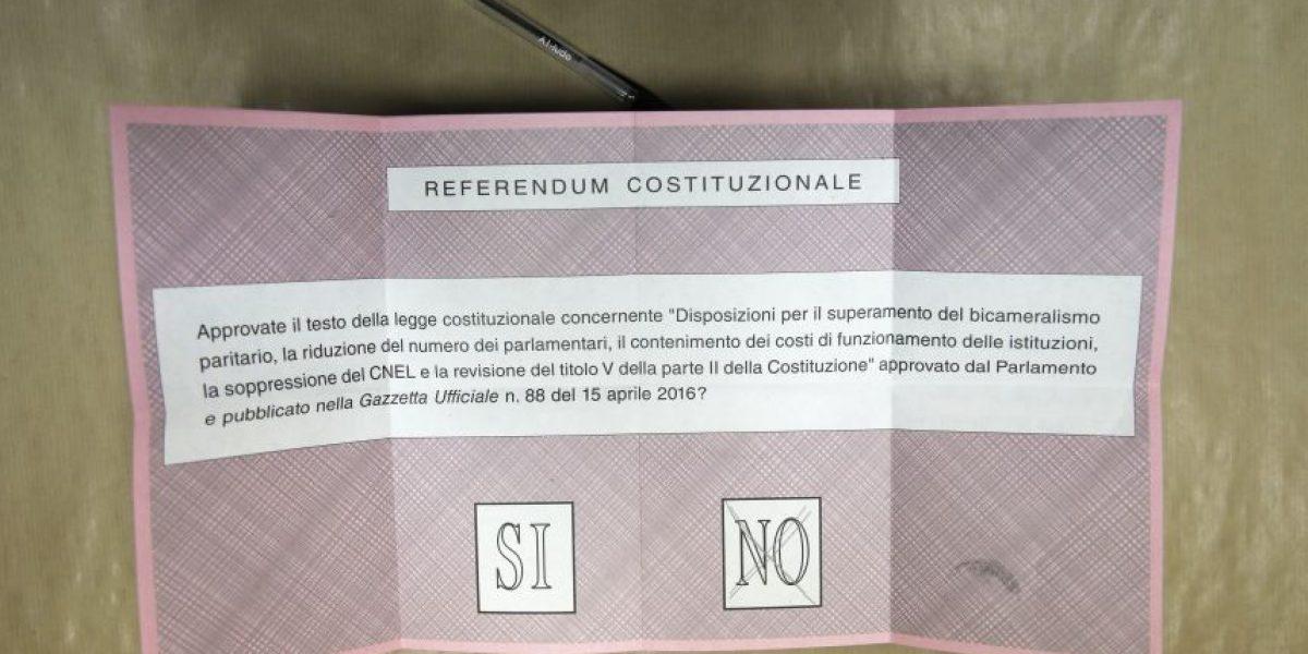 Primer Ministro italiano renuncia tras derrota en referéndum