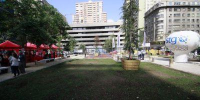 La nueva plaza de Bolsillo en Santo Domingo con Teatinos fue construida en un sitio abandonado por mas de 40 años. El lugar fue transformado para la familia con juegos, y zonas de descanso. Foto:Agencia UNO. Imagen Por: