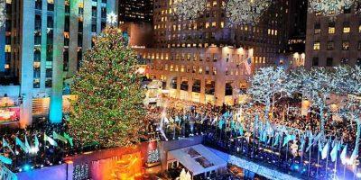 La policía aseguró que el detenido descartó que haya tenido intensión de incendiar el emblemático árbol de navidad, sin embargo, igual fue acusado por alteración del orden público y amenazas terroristas. Foto:Efe. Imagen Por: