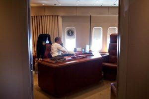 El despecho del presidente al interior del Air Force One Foto:GETTY. Imagen Por: