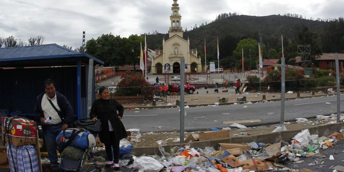 Dos días demorará limpieza de la basura en el santuario de Lo Vásquez