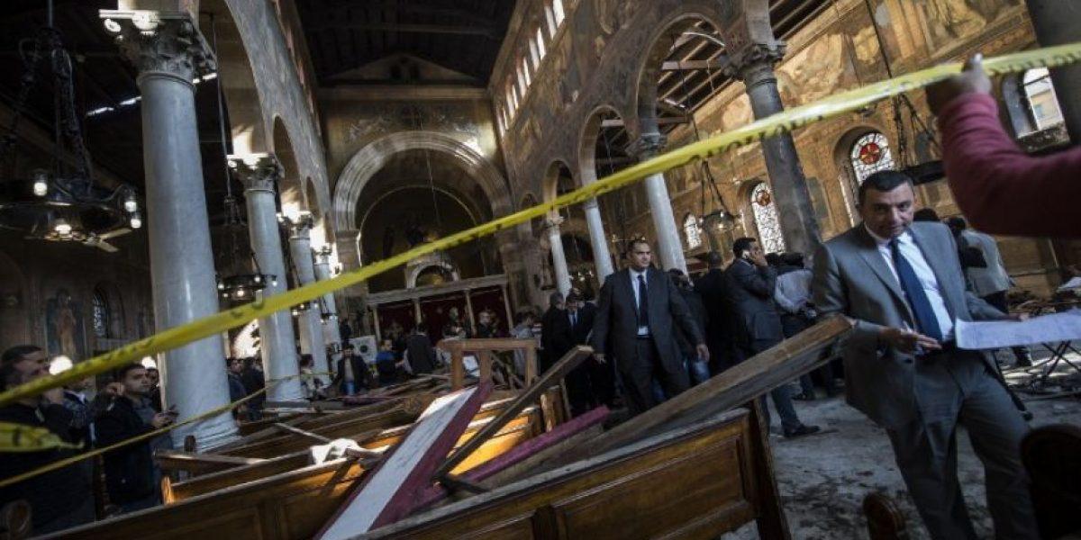 Las impactantes imágenes del atentado que dejó 25 muertos en catedral en Egipto