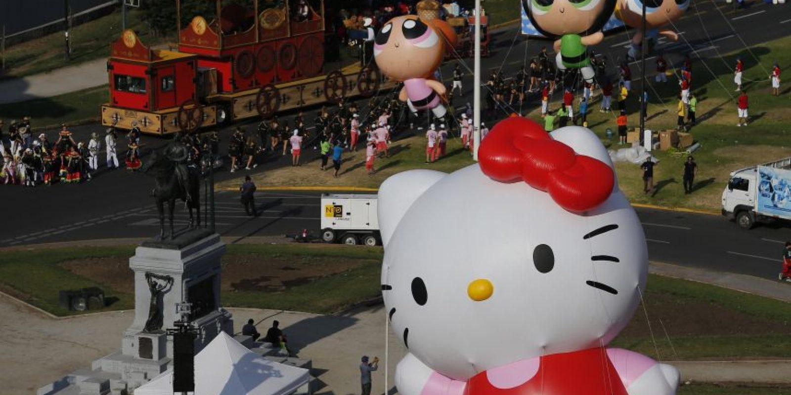 Las chicas superpoderosas y Hello Kitty también fueron parte de este espectáculo. Foto:Aton. Imagen Por: