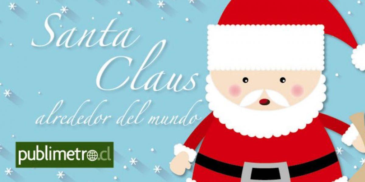 Infografía: Santa Claus alrededor del mundo