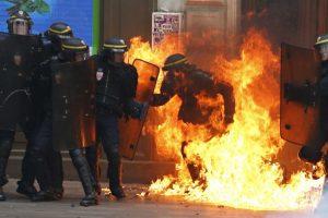 Protestas por reforma laboral en Francia. Foto:AFP. Imagen Por:
