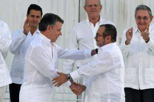 Acuerdo de paz entre el gobierno y las Frac, en Colombia. Foto:AFP. Imagen Por:
