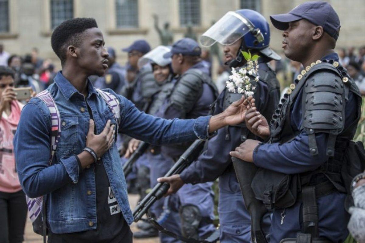 Protestas estudiantiles en Sudáfrica. Foto:AFP. Imagen Por: