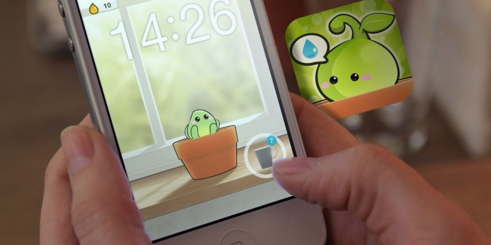 """""""Plant Nanny"""" es una aplicación que te ayuda a mantenerte hidratado. Foto:Youtube. Imagen Por:"""