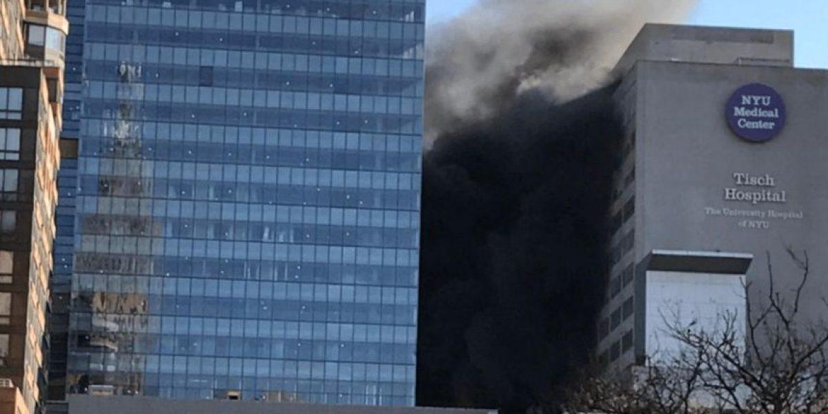 Incendio en el Hospital de la Universidad de Nueva York obliga a evacuar pacientes