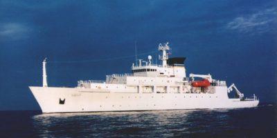 El USNS Bowditch, barco que llevaba la sonda. Foto:Marina de EEUU. Imagen Por: