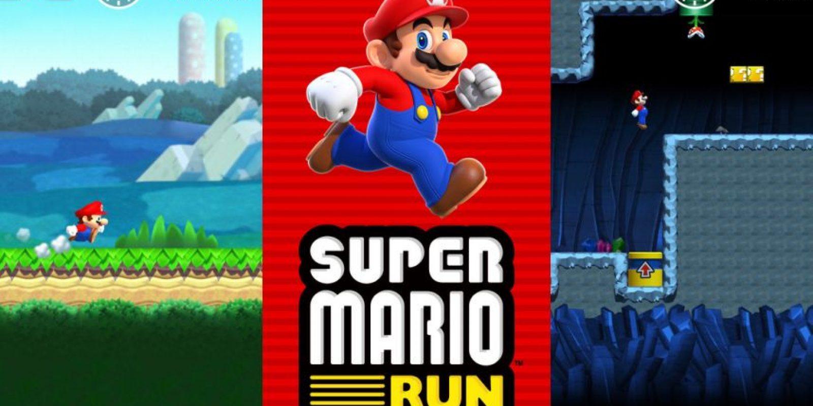 """""""Super Mario Run"""" es el primer videojuego oficial de Nintendo para smartphones. Foto:Nintendo. Imagen Por:"""
