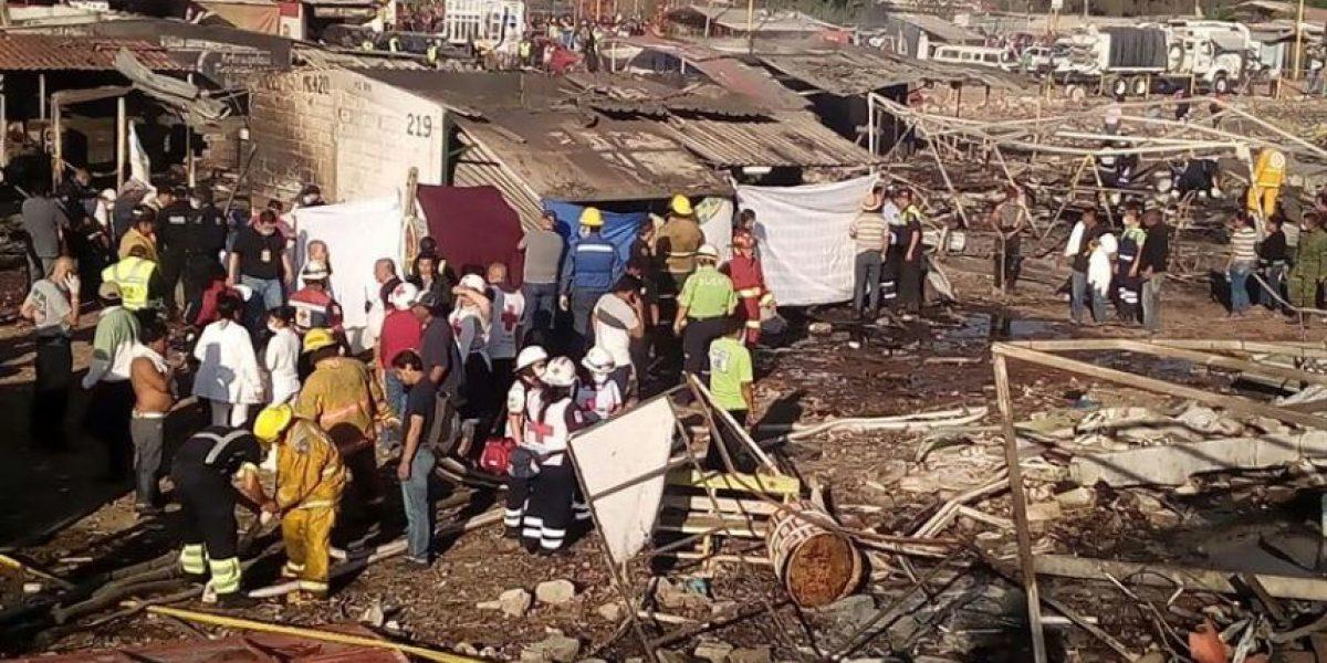 Ascienden a 36 los muertos por explosión en mercado mexicano de pirotecnia