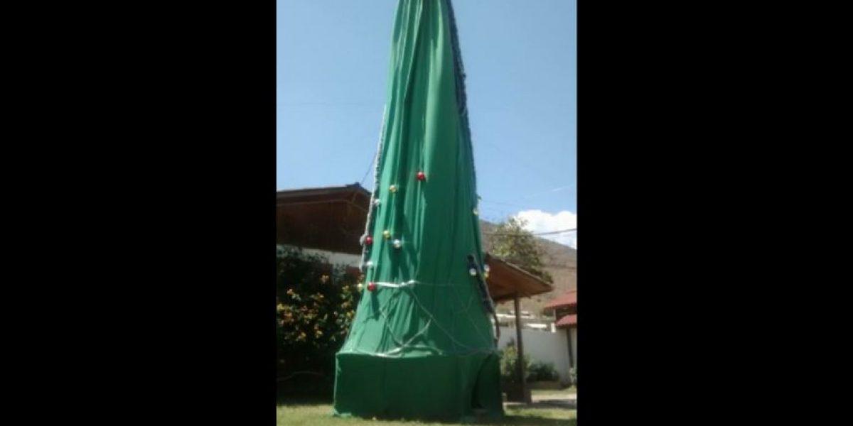 El árbol de navidad de Petorca del que todos se burlaron en redes sociales