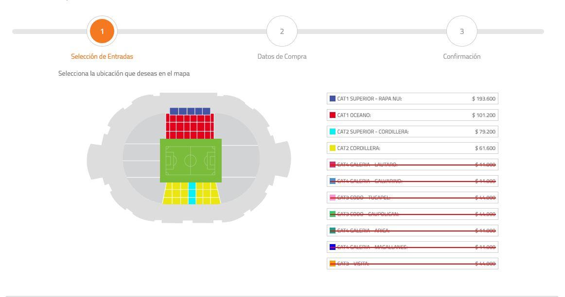 Los tickets más caros aun están disponibles / imagen: puntoticket.cl