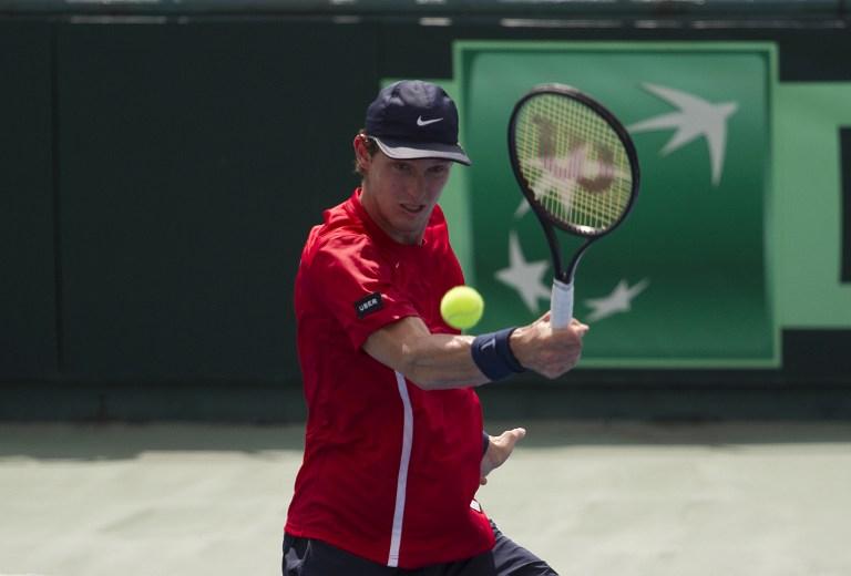 Jarry en la serie de Copa Davis ante República Dominicana, donde fue clave / AFP