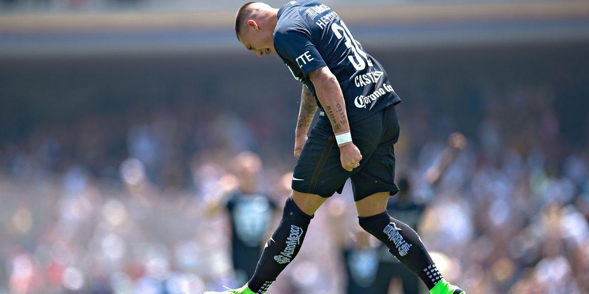 Castillo marcó dos goles en la derrota de Pumas ante América