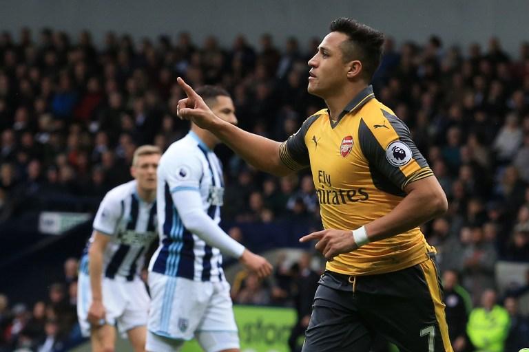 Alexis Sánchez anotó en la derrota 3-1 del Arsenal ante el West Bromwich Albion / AFP