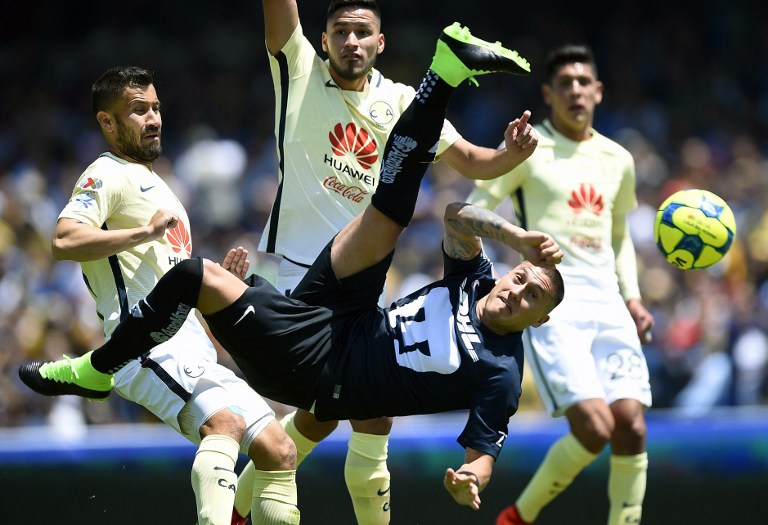 Castillo supera en la tabla de goleadores de México a grandes delanteros como Pabón, Peralta o Gignac / AFP