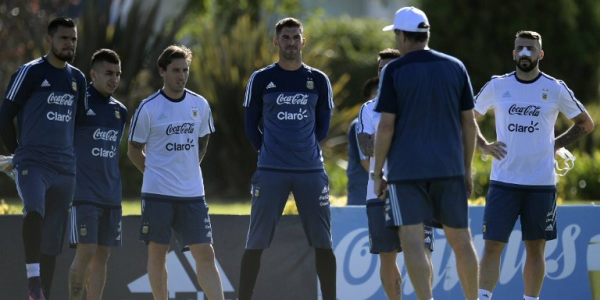 Argentina tuvo su primer entrenamiento de cara al partido con Chile
