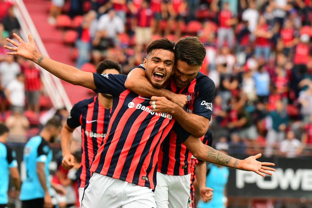 Paulo Díaz celebrando un tanto por San Lorenzo ante Belgrano / @SanLorenzo