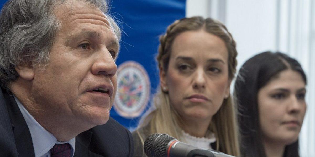 Embajadora de Venezuela irrumpe en conferencia de prensa de jefe de la OEA con opositoras