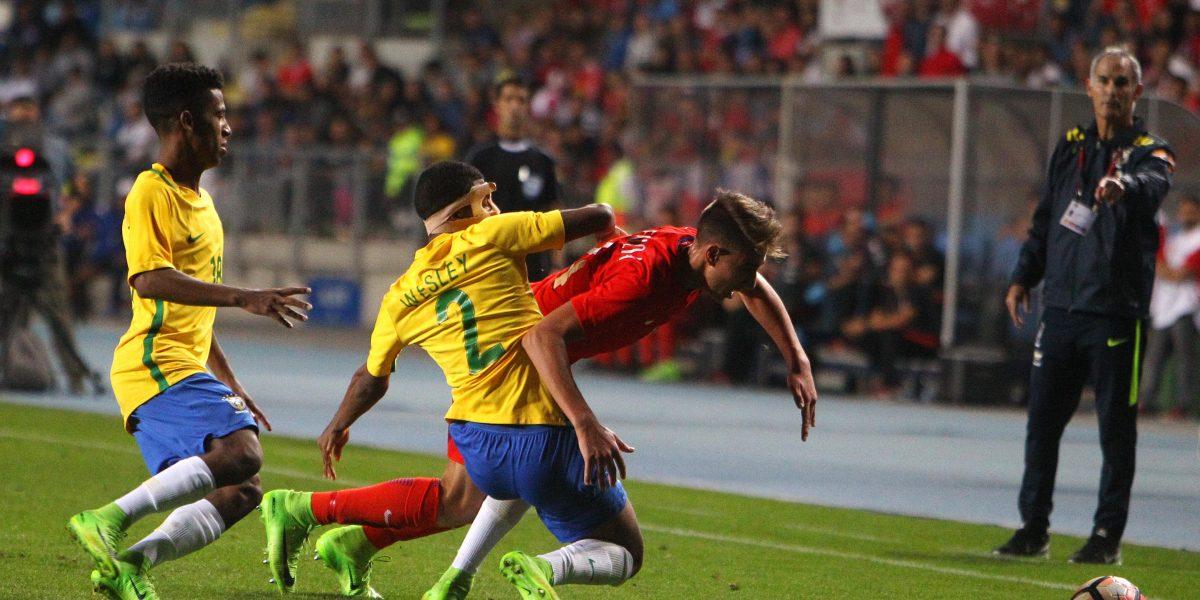 La Rojita Sub 17 fue goleada por Brasil en su despedida del Sudamericano