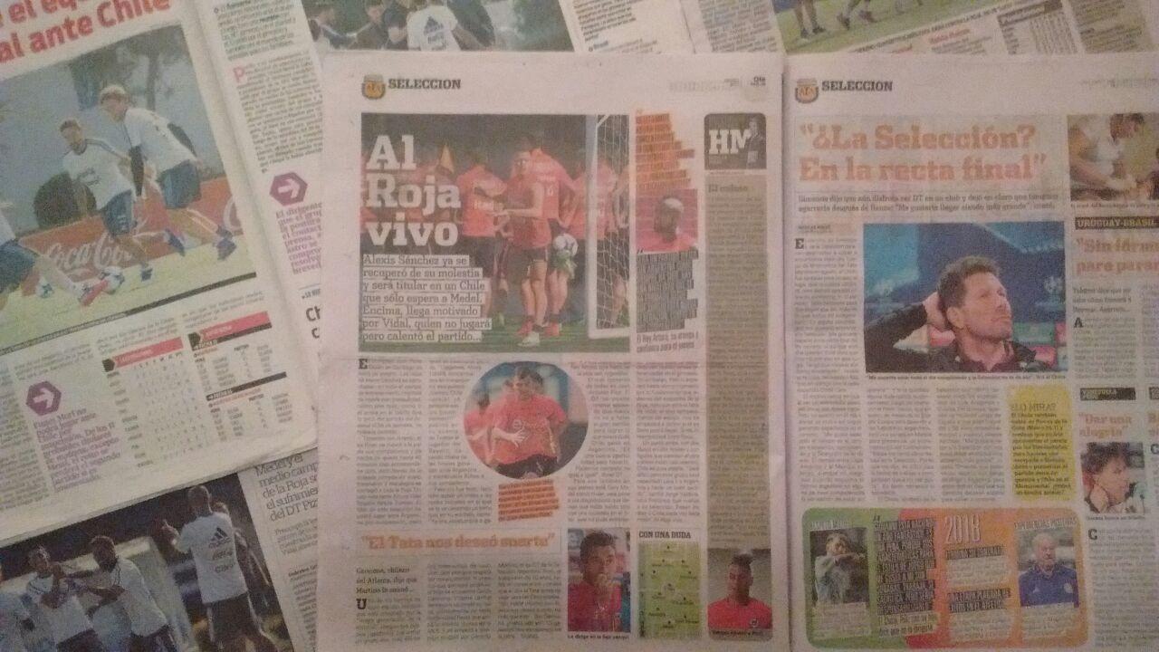 La prensa argentina ya se puso exigente con la Albiceleste / imagen: Javier Rios