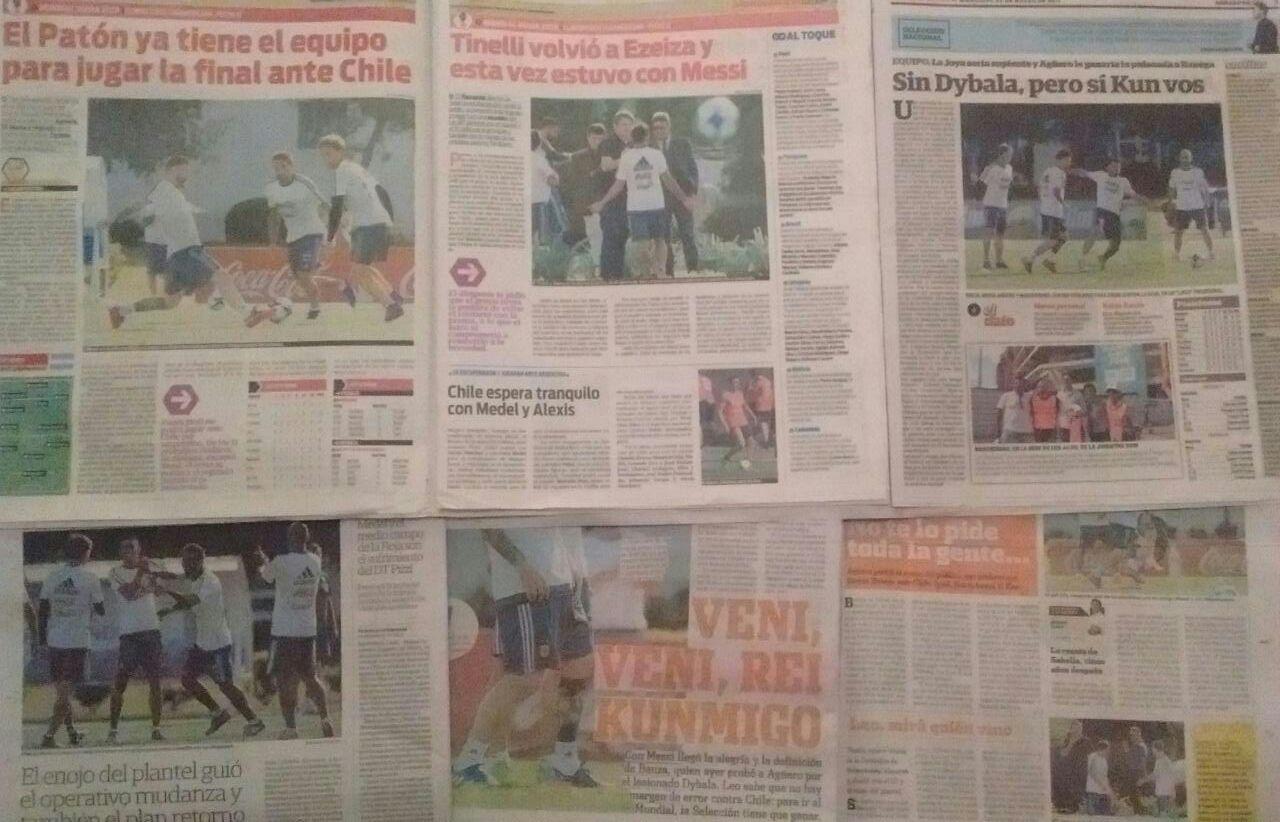 La prensa argentina ya se puso exigente con su selección / imagen: Javier Rios