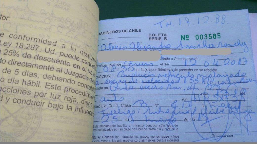 Alexis Sánchez recibió un parte por manejar a exceso de velocidad / imagen: CHV Deportes
