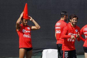 © MARCELO HERNANDEZ/PHOTOSPORT. Imagen Por: La selección entrenó tras el contro antidoping de la FIFA /Photosport