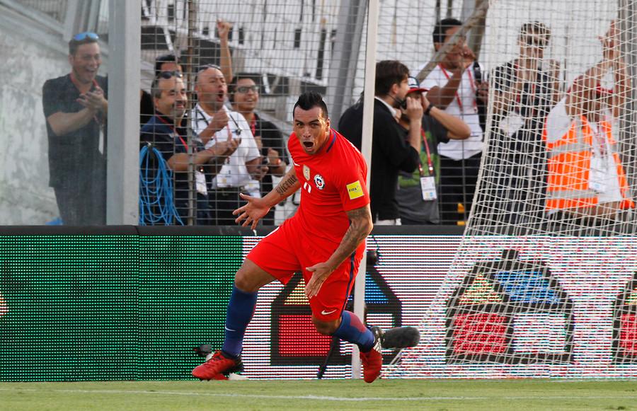 Esteban Paredes anotó dos goles en el triunfo 3-1 sobre Venezuela / Agencia UNO