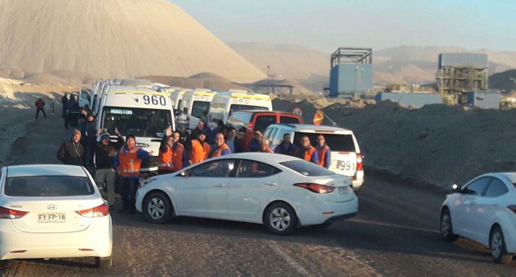 Trabajadores bloquearon accesos a la mina Chuquicamata en Antofagasta | Nacional