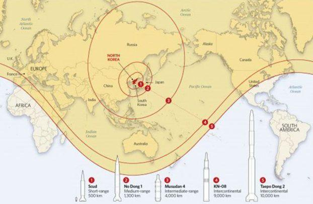 'Misiles de Corea del Norte alcanzarán blancos en EEUU y Canadá'