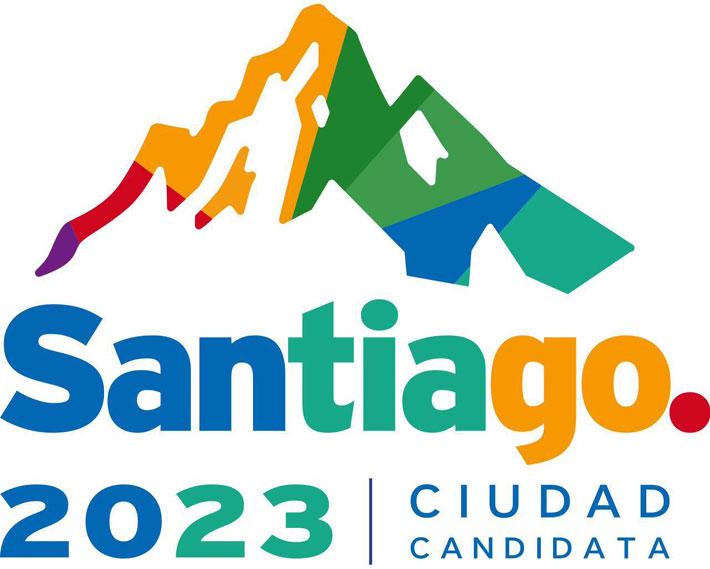 El logo de Santiago 2023