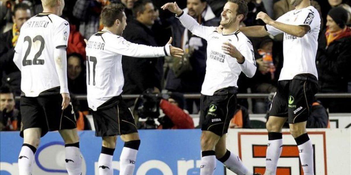 2-0. Los goles de Soldado marcaron la diferencia del Valencia con el Málaga