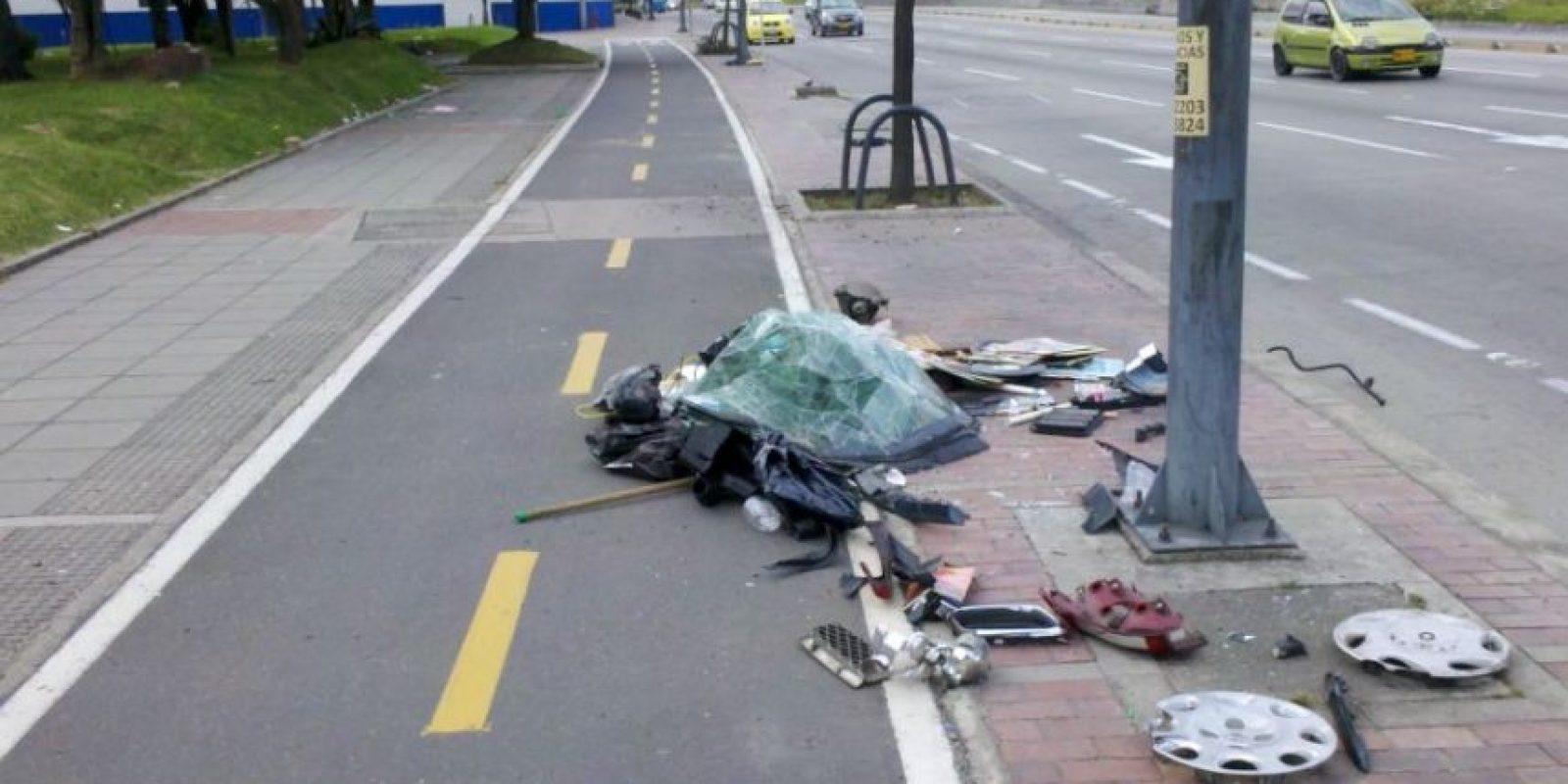 En el sector NQS con Cl79 es común encontrar vidríos y basuras abandonadas Foto:Andrés Núñez